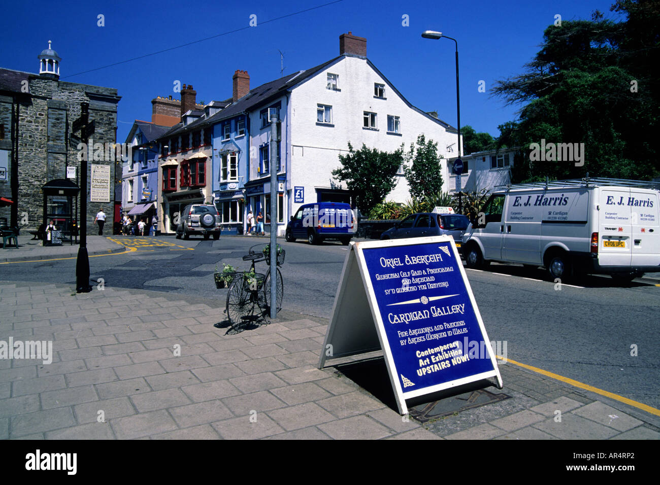 Pendre Street Cardigan Ceredigion West Wales Stock Photo