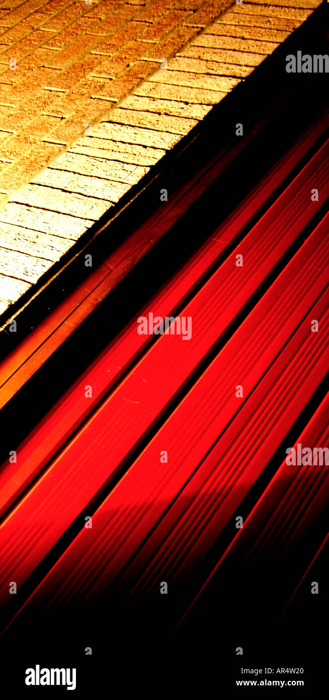 garage door and wall - Stock Image