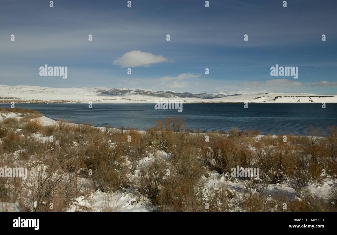 Mono lake california USA in winter - Stock Image
