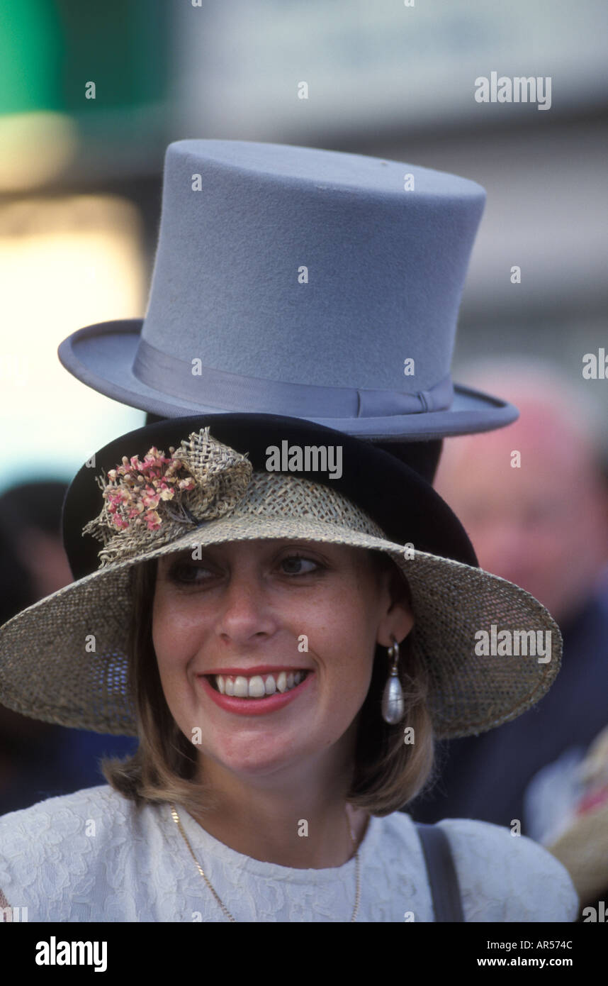 Ladies Day Royal Ascot Horse races racing Berkshire England HOMER SYKES - Stock Image