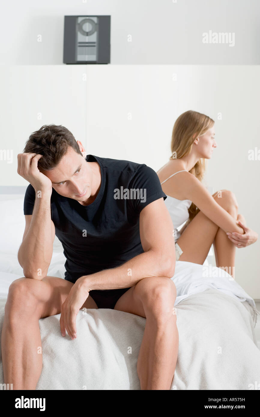 Troubled couple - Stock Image