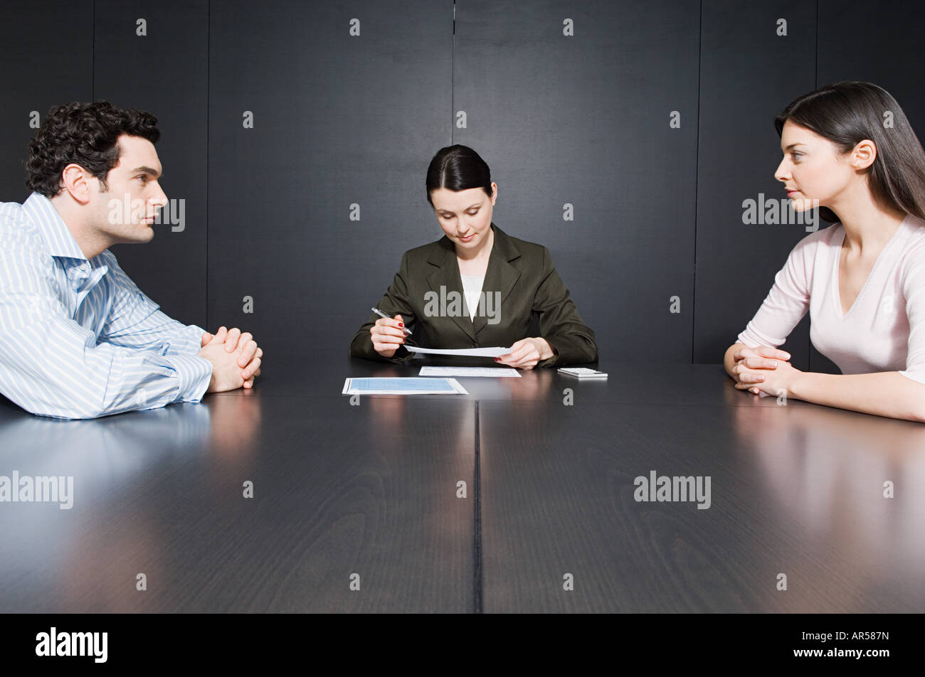 Couple divorcing - Stock Image