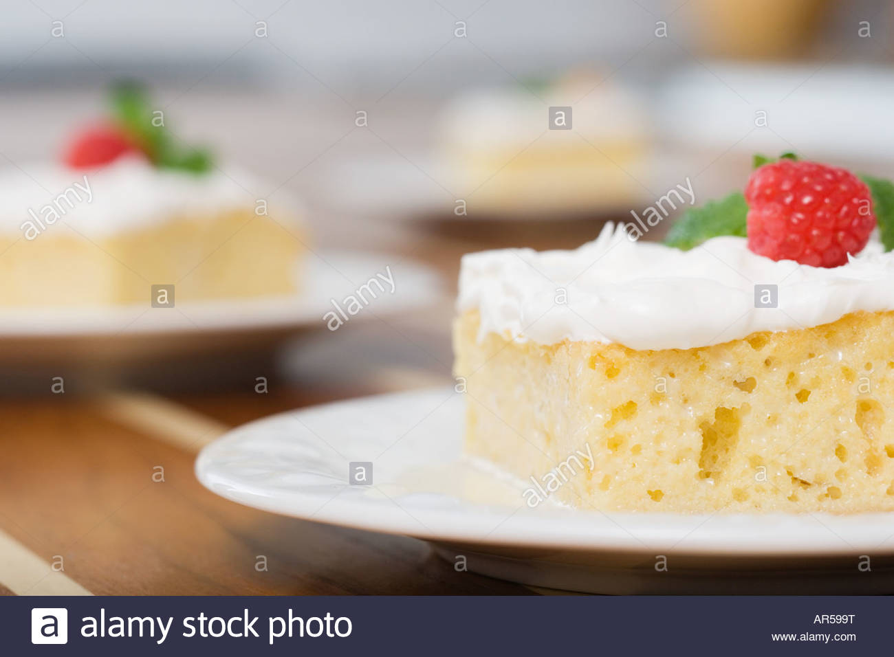 Slices of cake - Stock Image