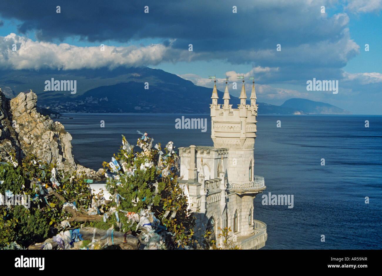 Swallow's nest castle crimea - Stock Image