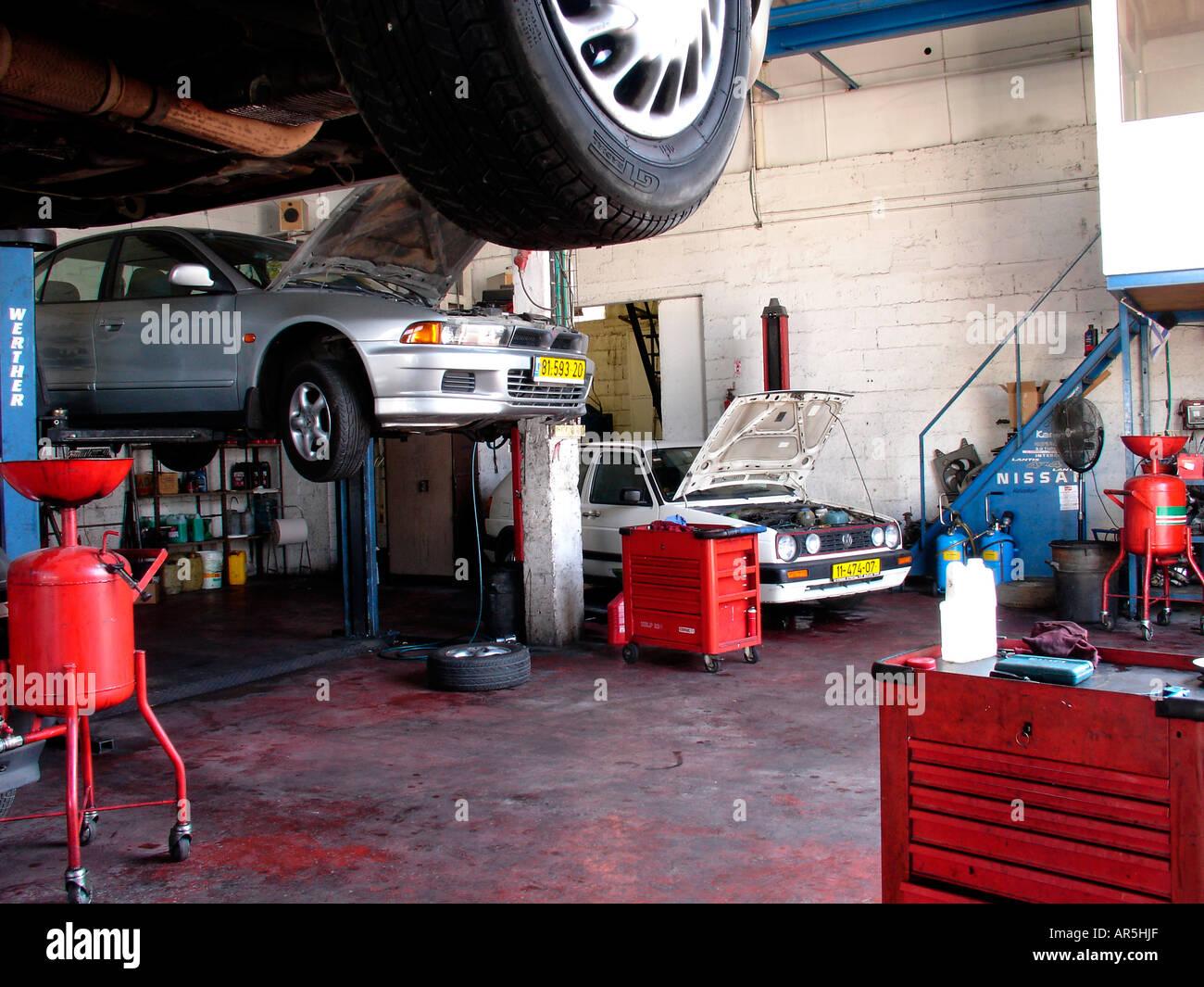 Garage Interior Workshop Stock Photos & Garage Interior