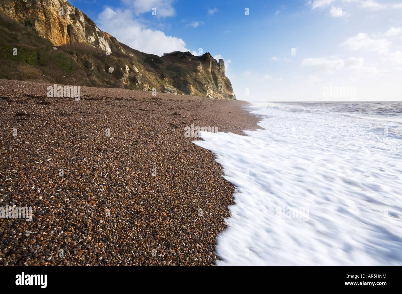 Branscombe Beach Devon England - Stock Image