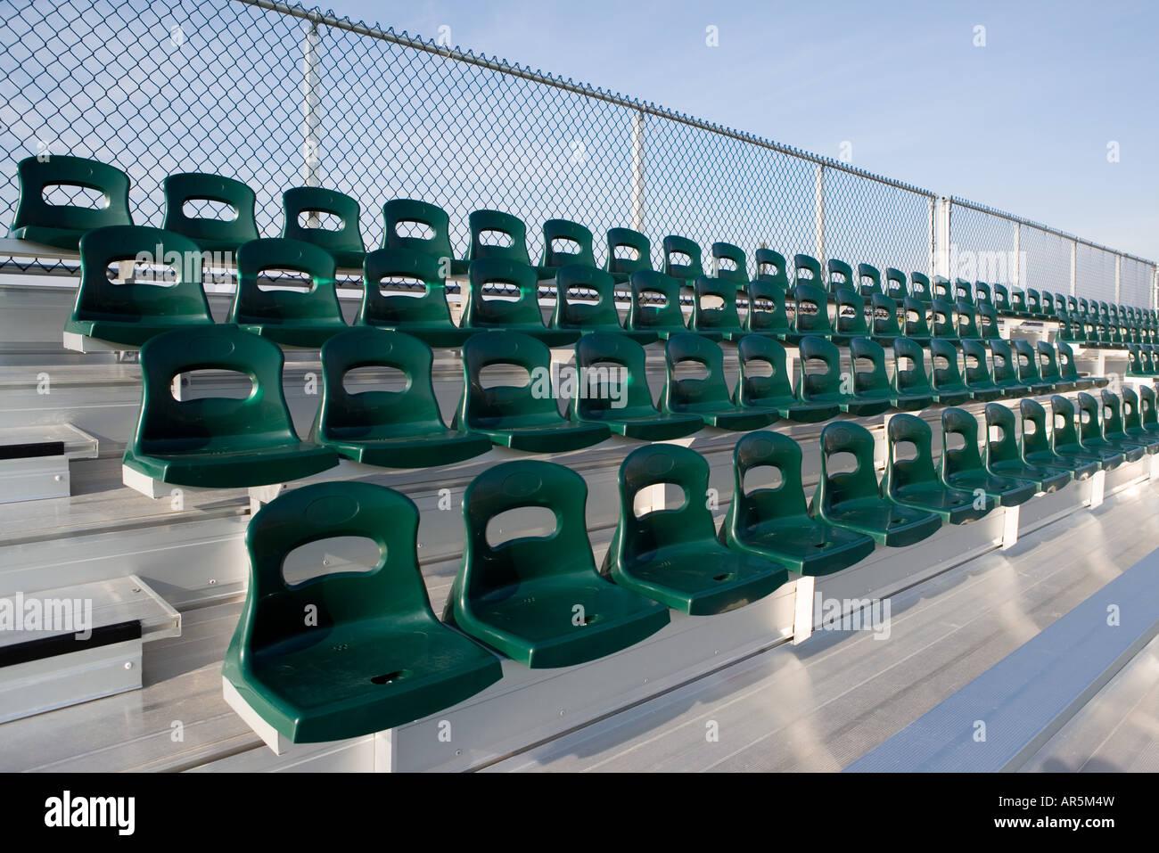 Empty stadium seats - Stock Image