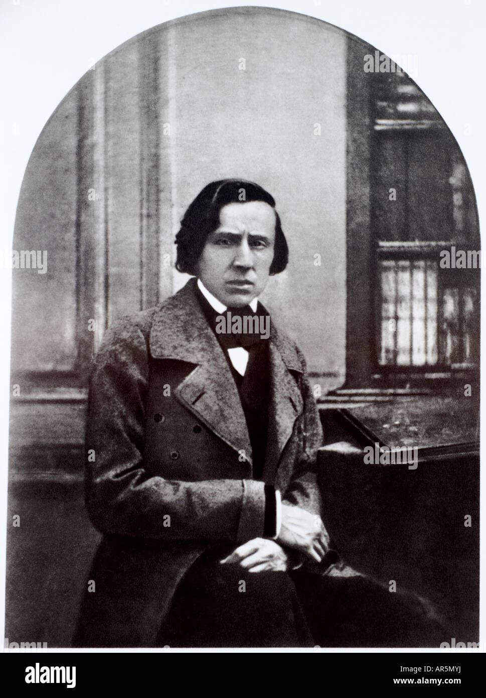 Portrait of Polish composer and pianist Frederic Chopin. - Stock Image