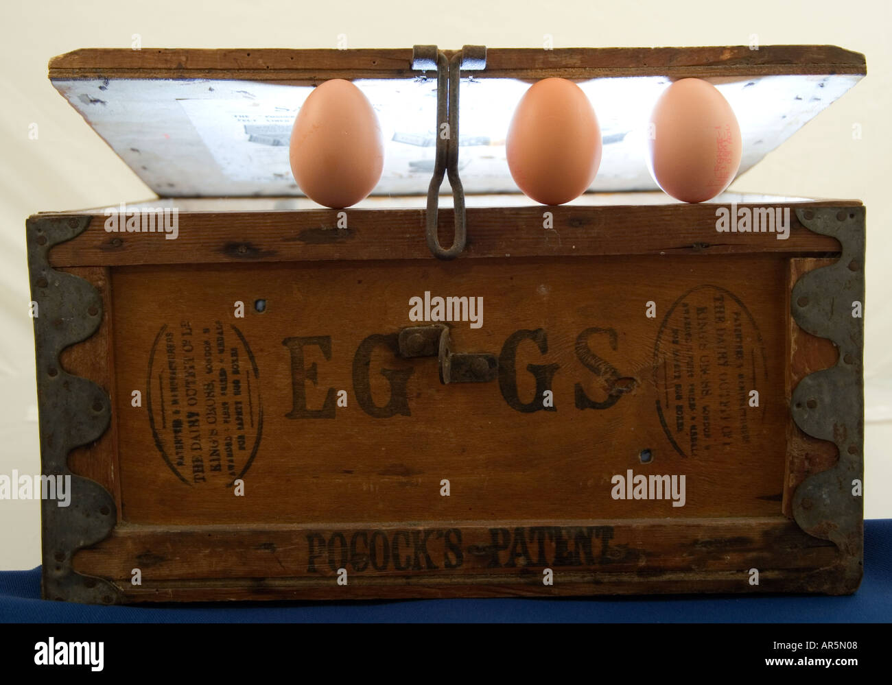 Eggs And Old Wooden Egg Box Stock Photo 5206279 Alamy