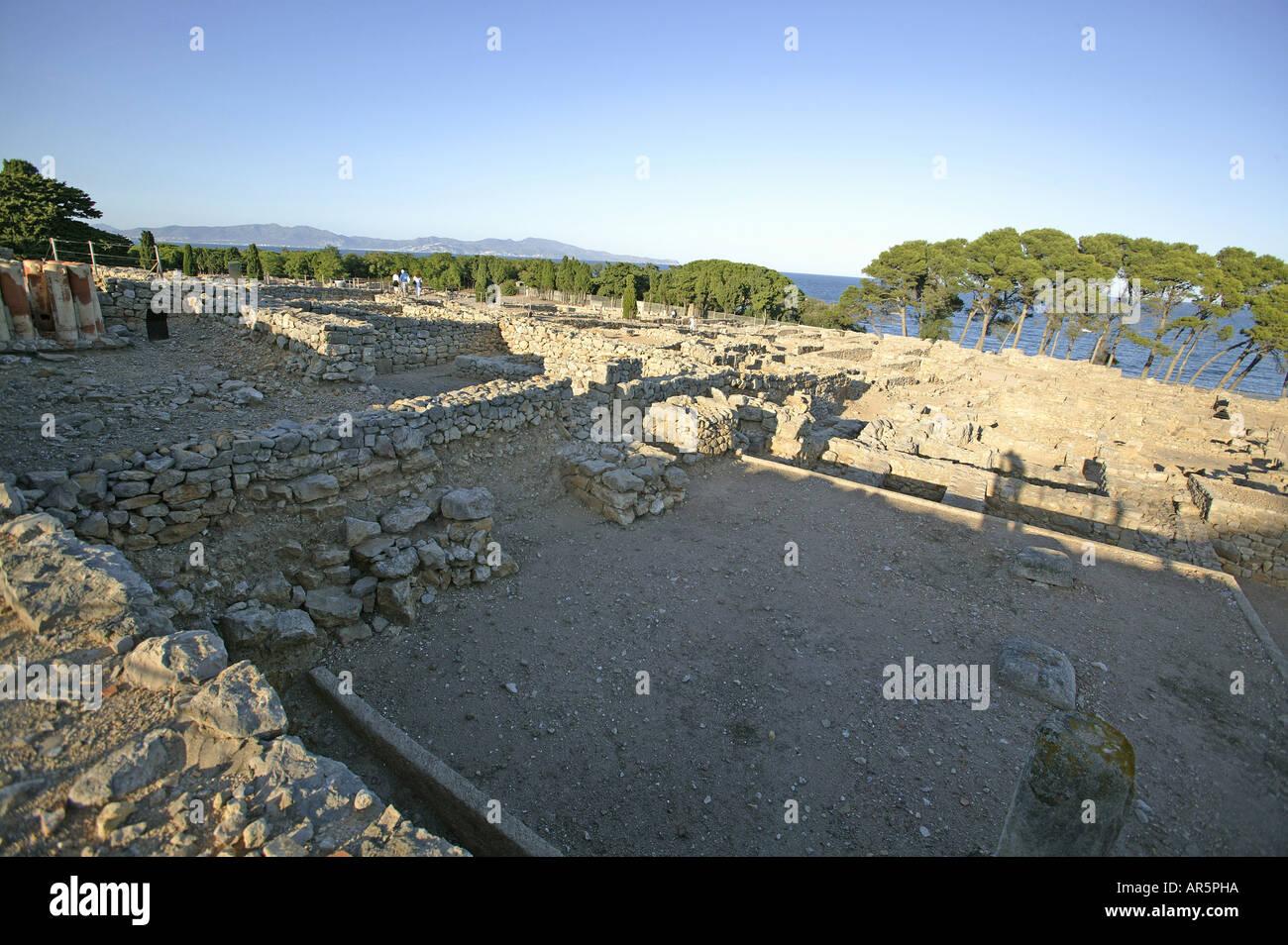 Costa Brava, Ancient Greek Settlement of Empuries, Costa Brava, Catalonia Spain - Stock Image