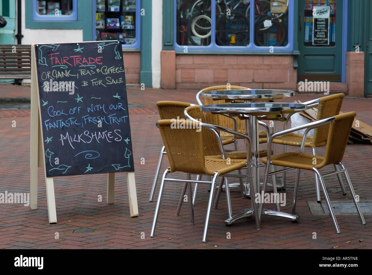 WiFi enabled cafe. Wireless network, internet hotspot Stock Photo