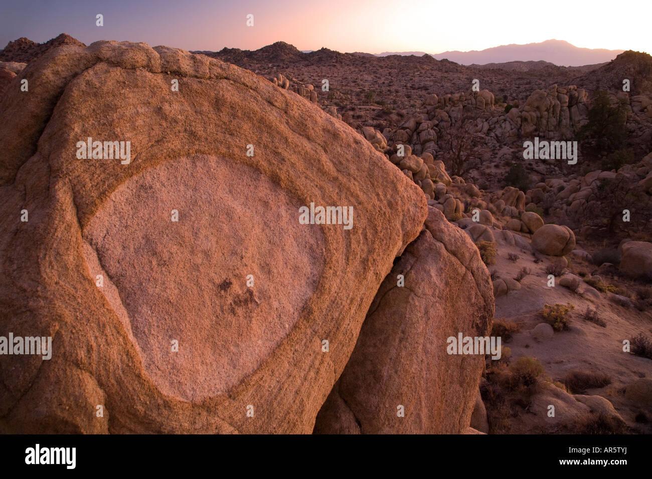 Mojave Desert near Pioneertown California - Stock Image