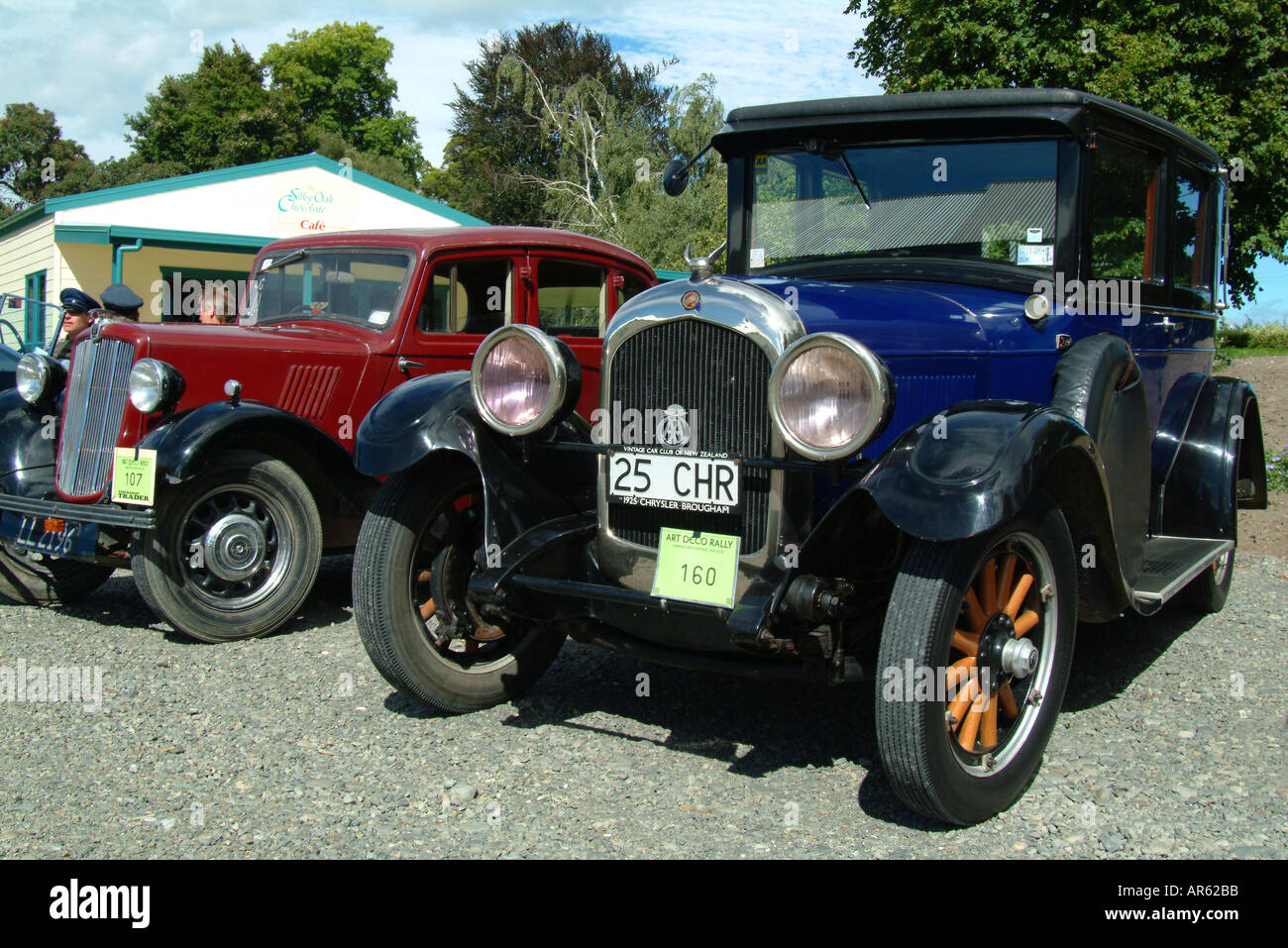 Vintage car classic cars Hawkes bay rally New Zealand - Stock Image