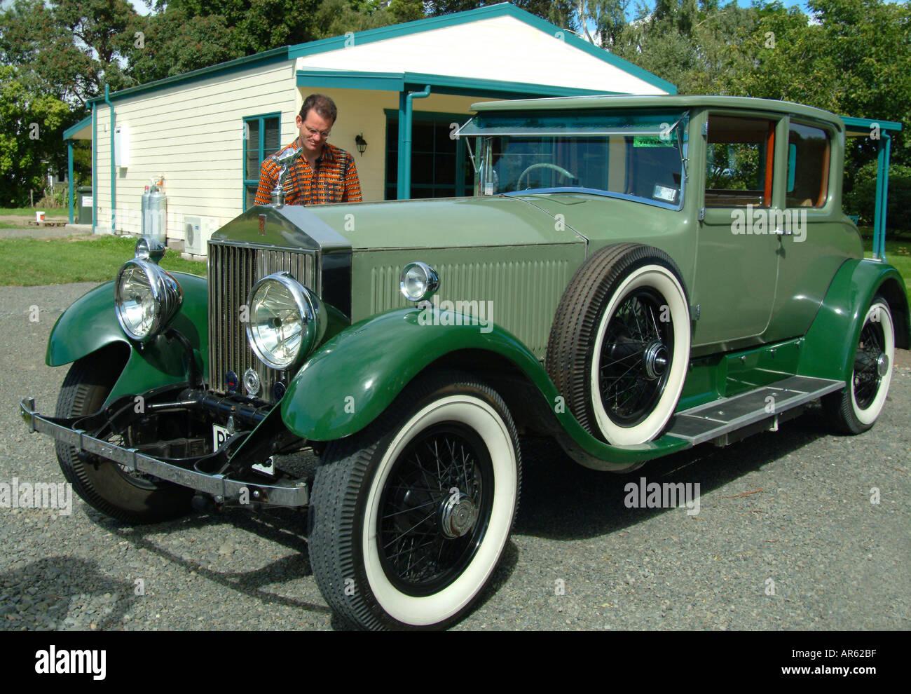 Vintage car classic cars Hawkes bay rally New Zealand Stock Photo ...