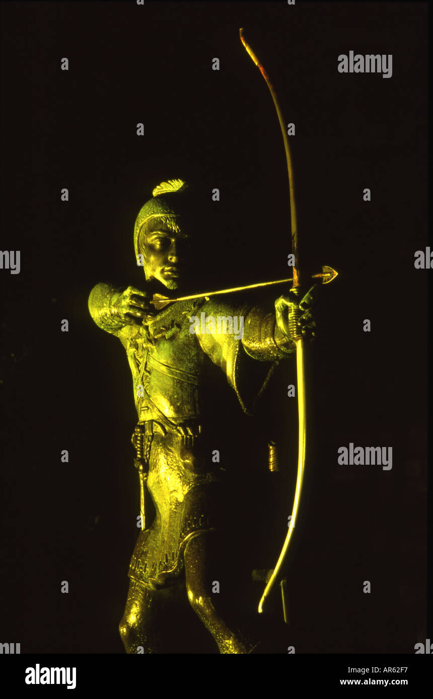 Robin Hood Statue, Nottingham - Stock Image