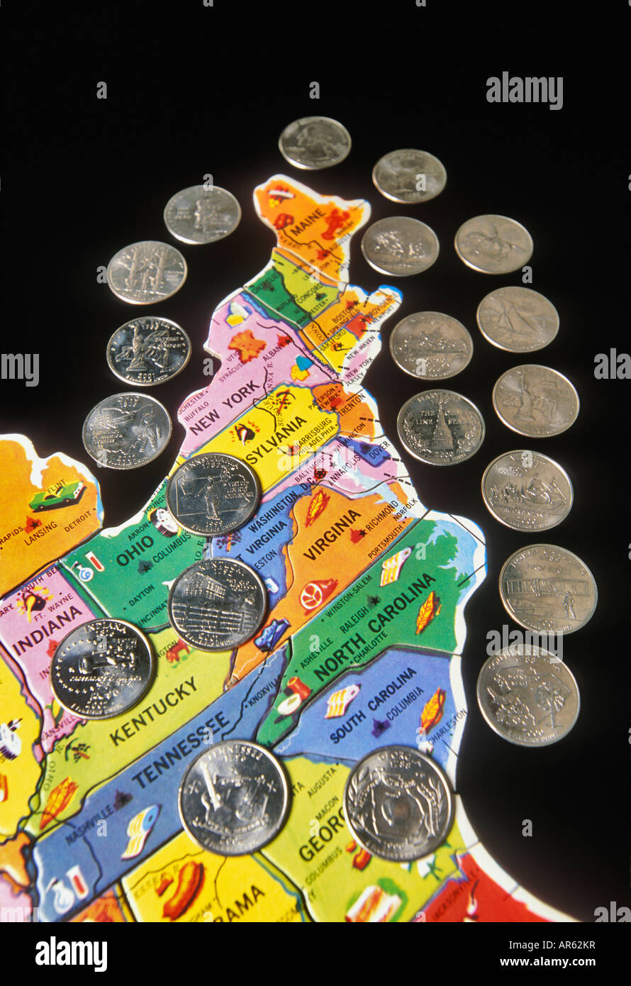 State Quarters for the Eastern United States Placed on Childrens ...