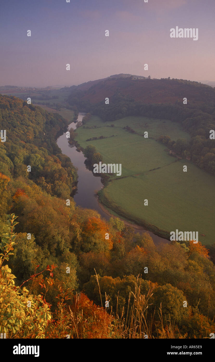 A view of Symonds Yat in the Wye Valley Gloucestershire - Stock Image
