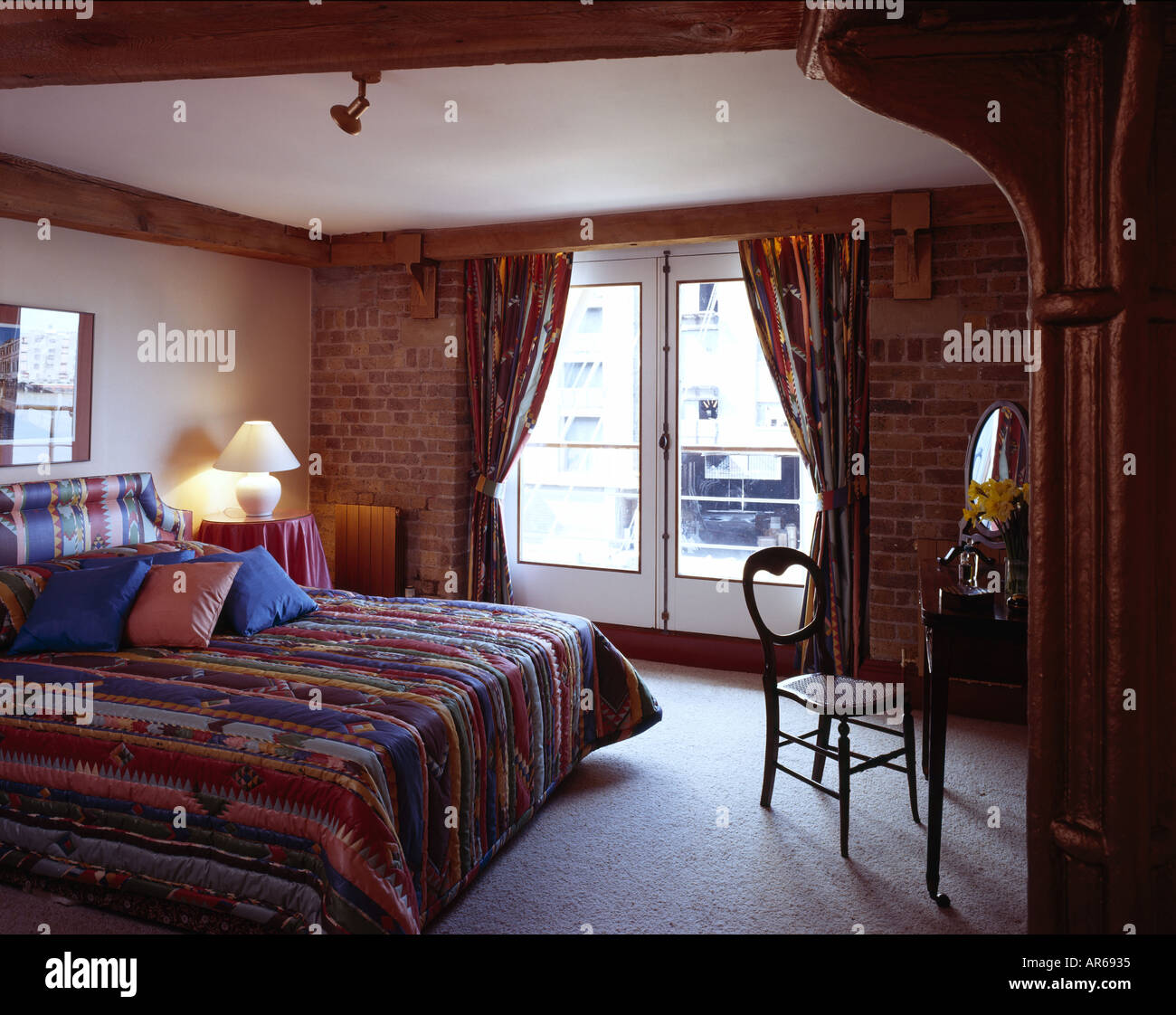 Show Flat, New Concordia Wharf, Docklands. Bedroom. - Stock Image