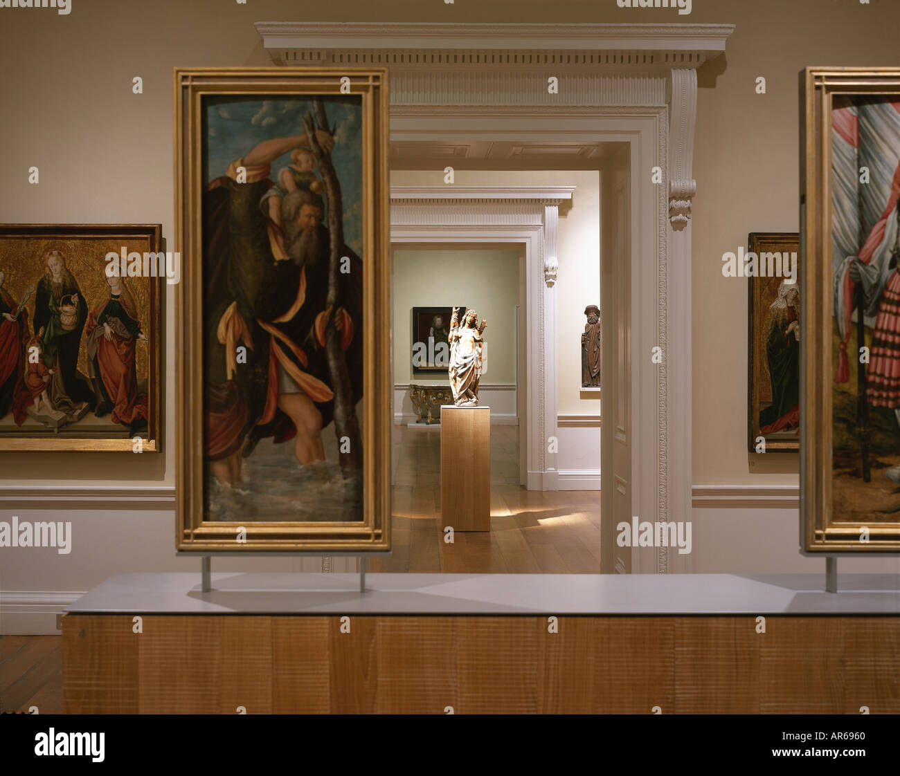 Compton Verney, Warwickshire. German Gallery. Architect: Stanton Williams, Robert Adam - Stock Image