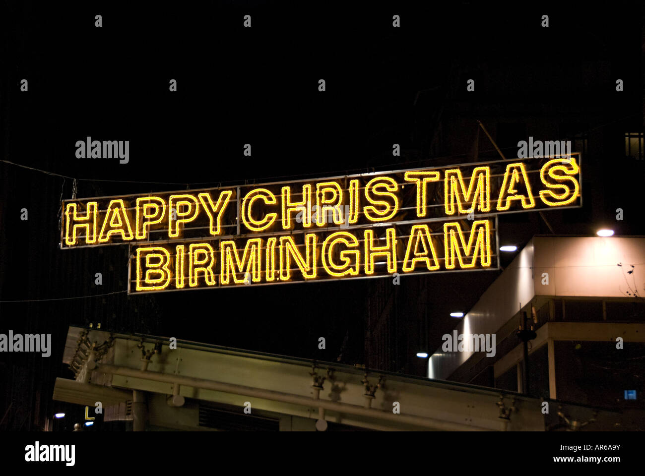 birmingham city center german markets in 2007 happy christmas sign