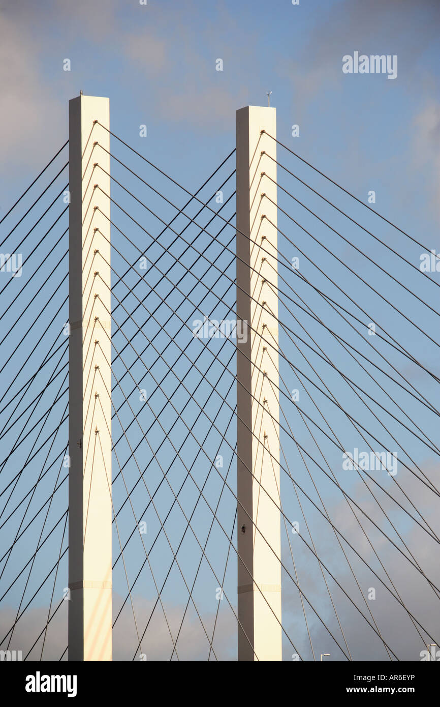 A section of the Dartford Crossing suspension bridge in Kent Stock ...