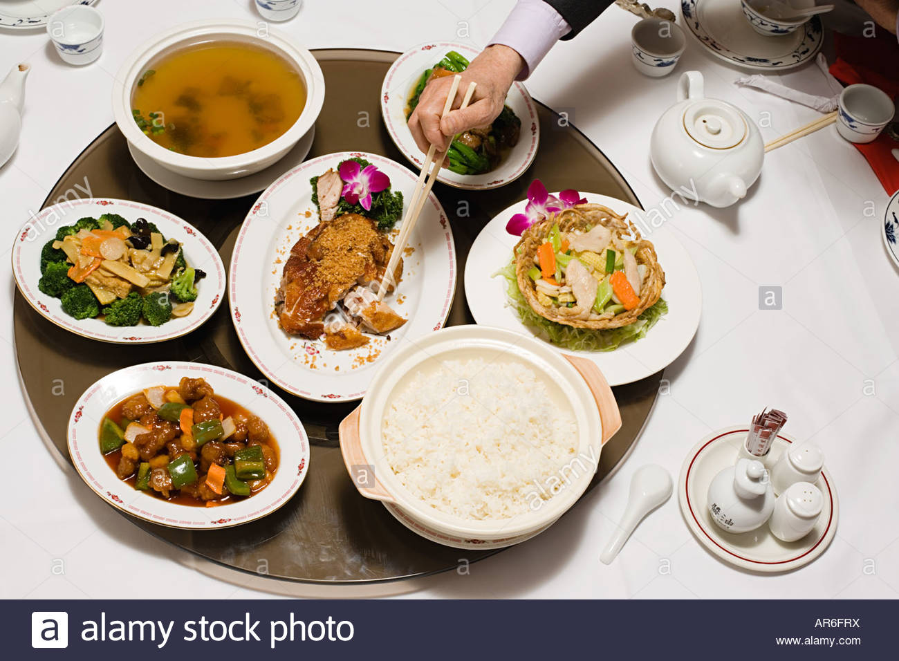 Chinese meal - Stock Image