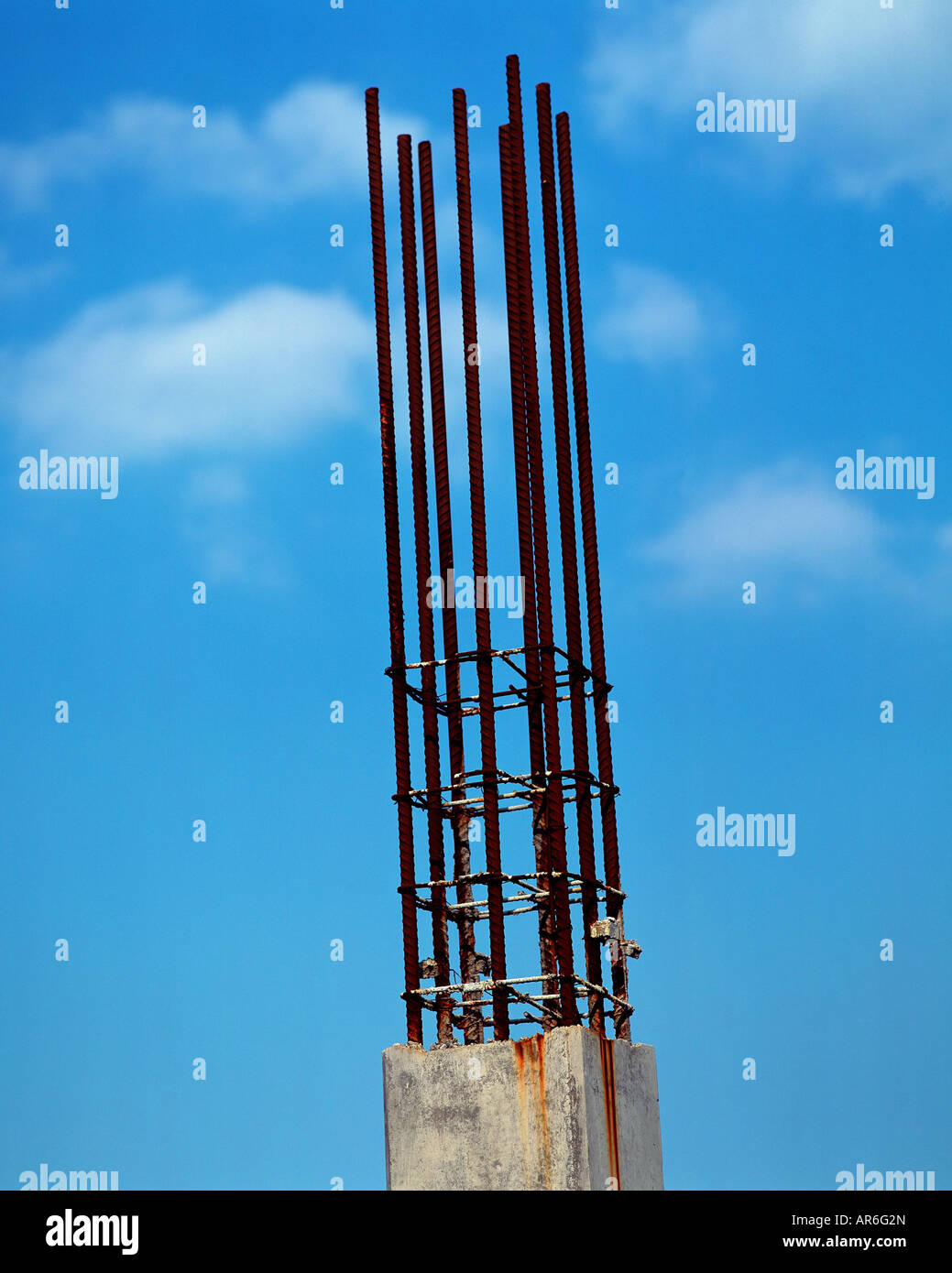 Rusting metal rods - Stock Image