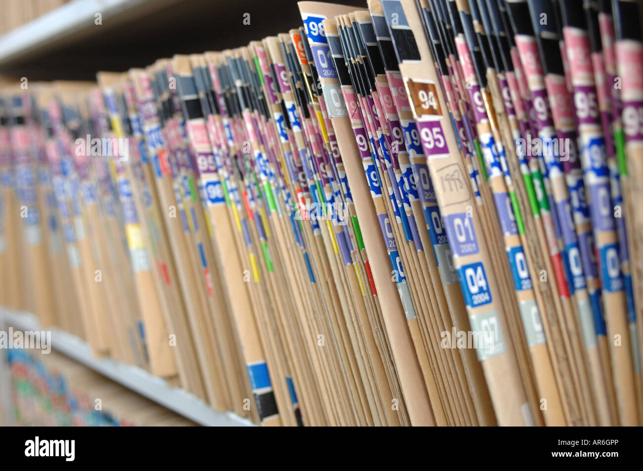 Hospital patient files - Stock Image