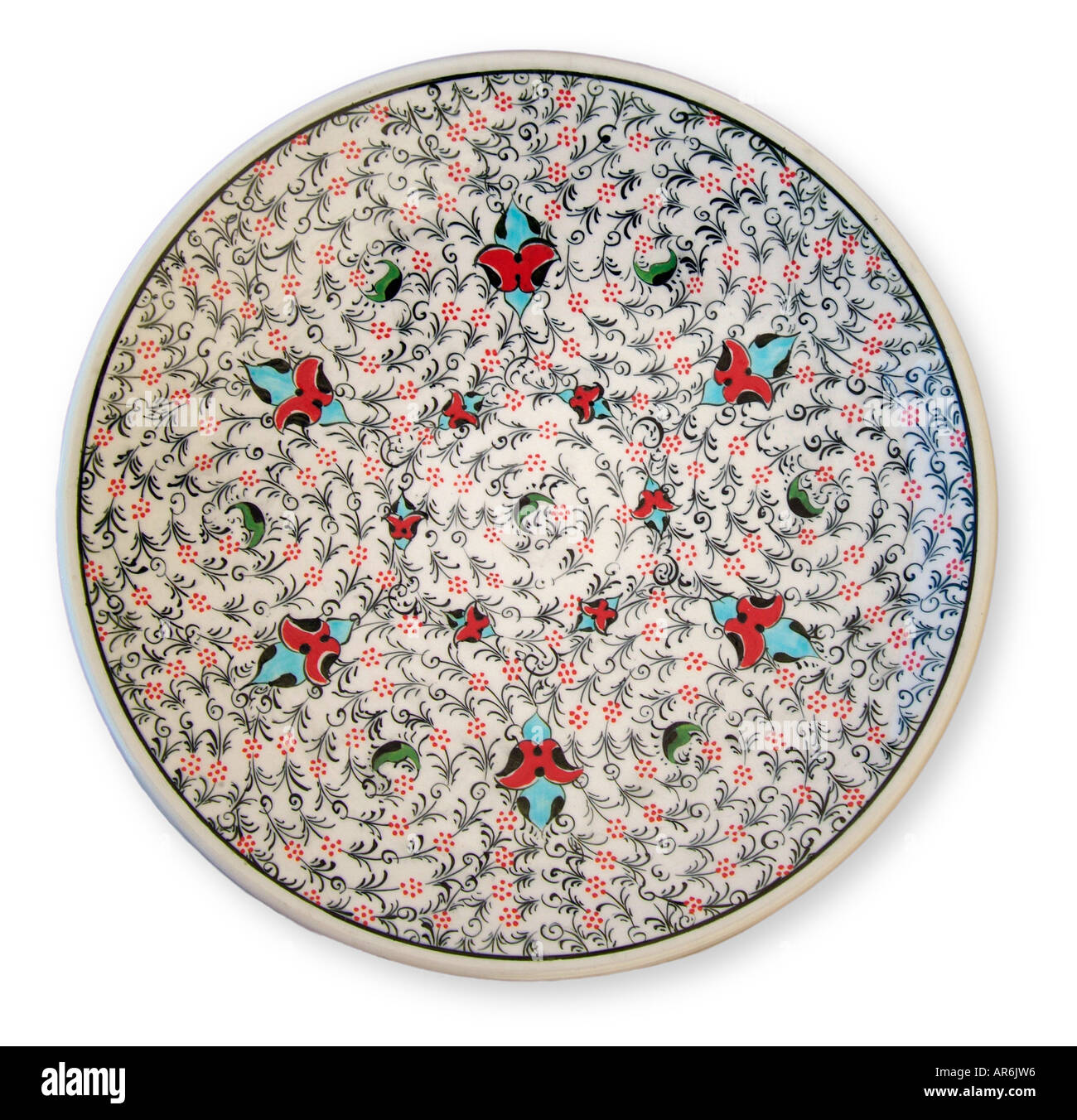 Ceramic Glazed Wall Plate Decorative Pattern Turk Turkey Turkish Stock Photo Alamy