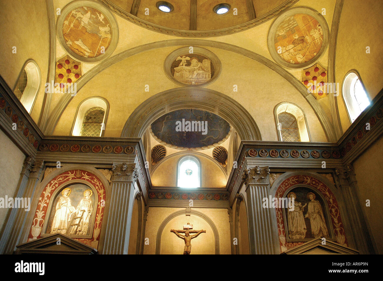 Sagrestia Vecchia 1421 1426 designed by Brunelleschi San Lorenzo church  Florence Toscana Italy