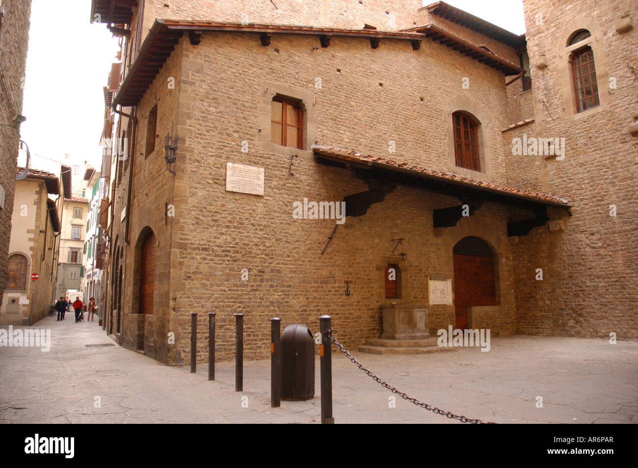 Casa di Dante museum dedicated to Dante Alighieri who was born and live in Florence Toscana Italy - Stock Image