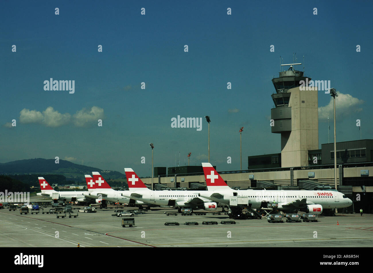 Zürich airport Zurich Switzerland Aeropuerto de Zürich Zurich Suiza - Stock Image