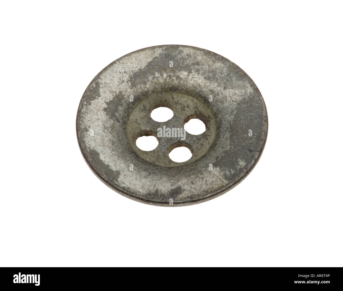 Metal buttons from WW2 army uniform Stock Photo