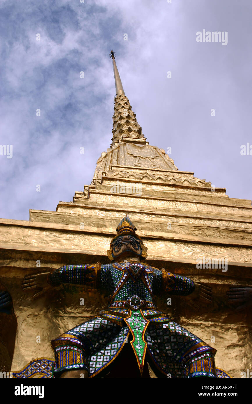 Abtract picture of temple inThailand - Stock Image