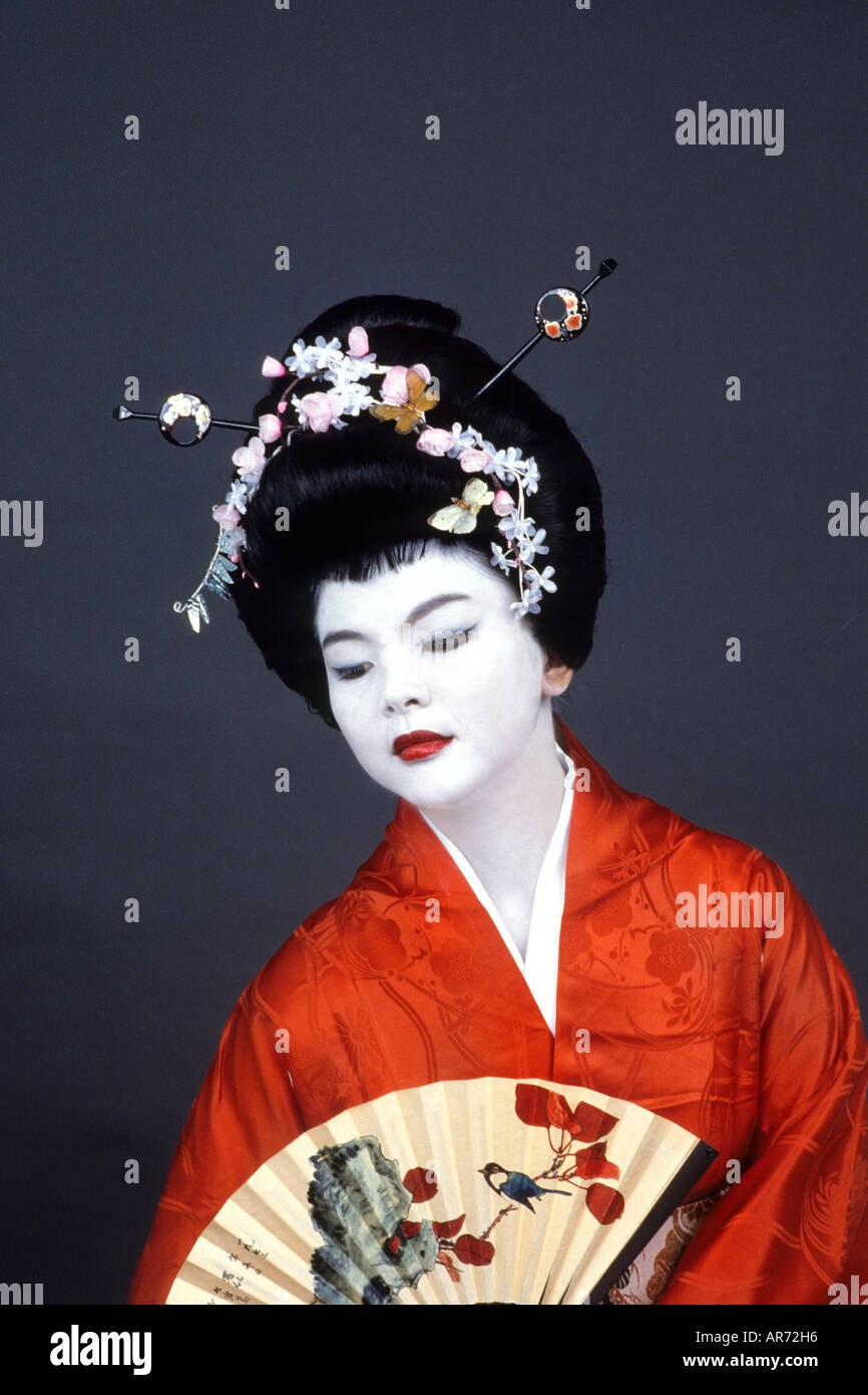 Wonderful colorful closeup of Geisha Girl with fan in Kyoto Japan - Stock Image  sc 1 st  Alamy & Geisha Girl Stock Photos u0026 Geisha Girl Stock Images - Alamy