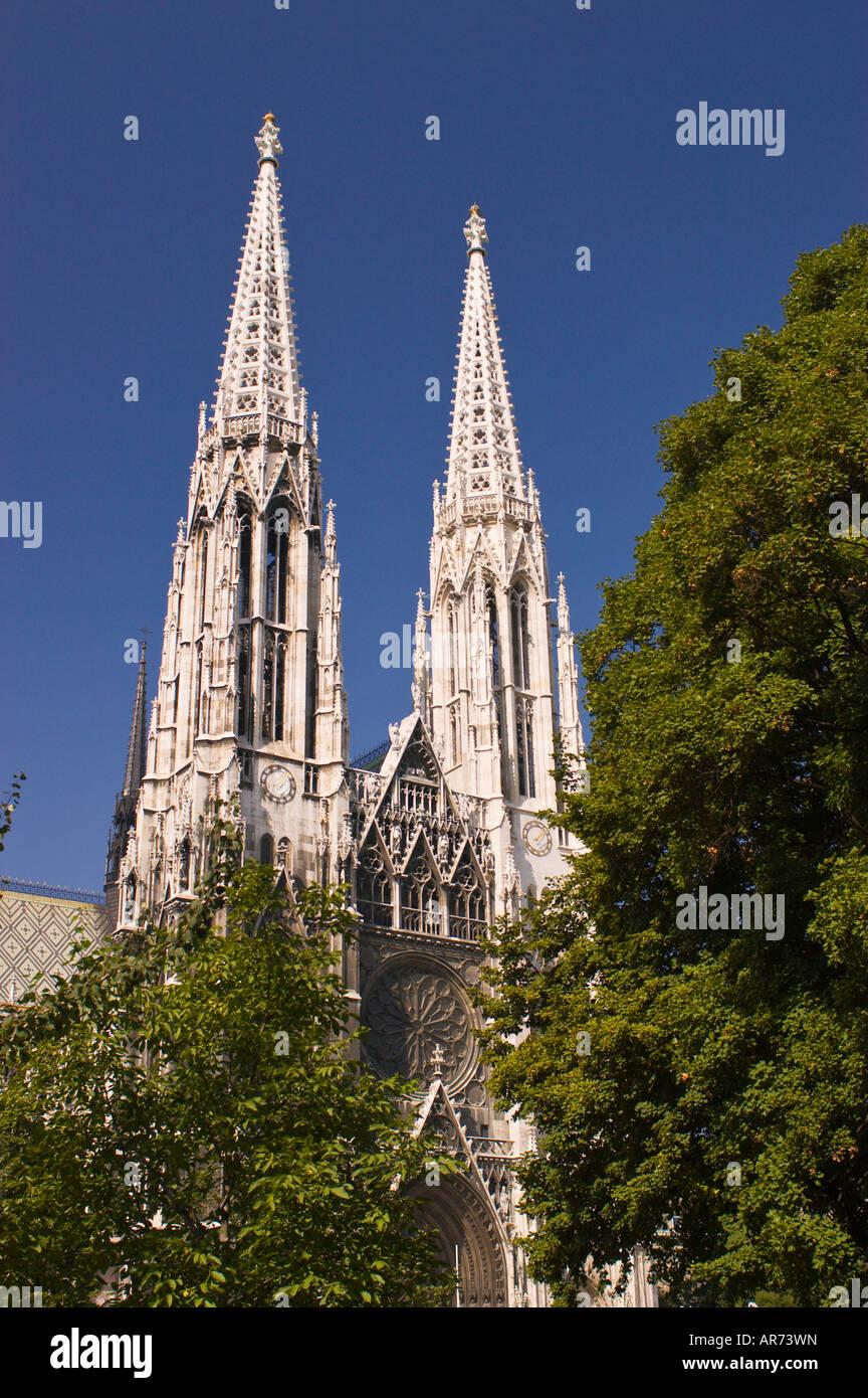 The Ring Vienna S Casual Luxury Hotel Vienna: VIENNA AUSTRIA Spires Of The Votivkirche Votiv Church Twin