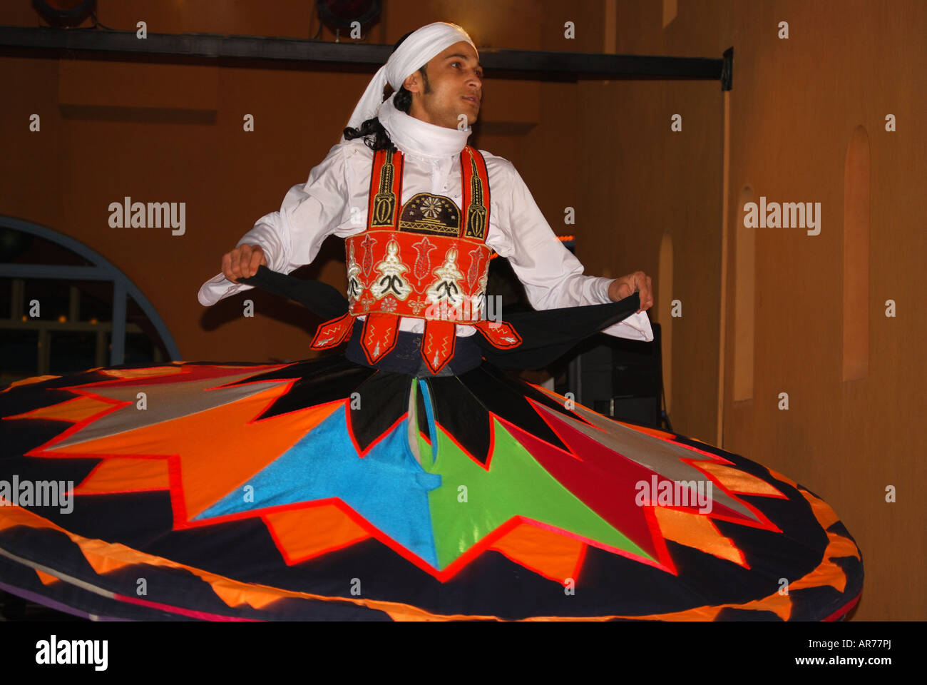 Egyptian dancer, InterContinental Taba Heights, Taba Heights, Sinai Peninsula, Republic of Egypt Stock Photo