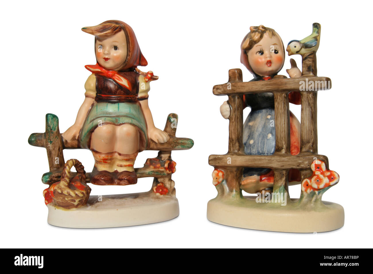 Goebel Hummel figurines: Just Restin' (left) and Signs of Spring. - Stock Image