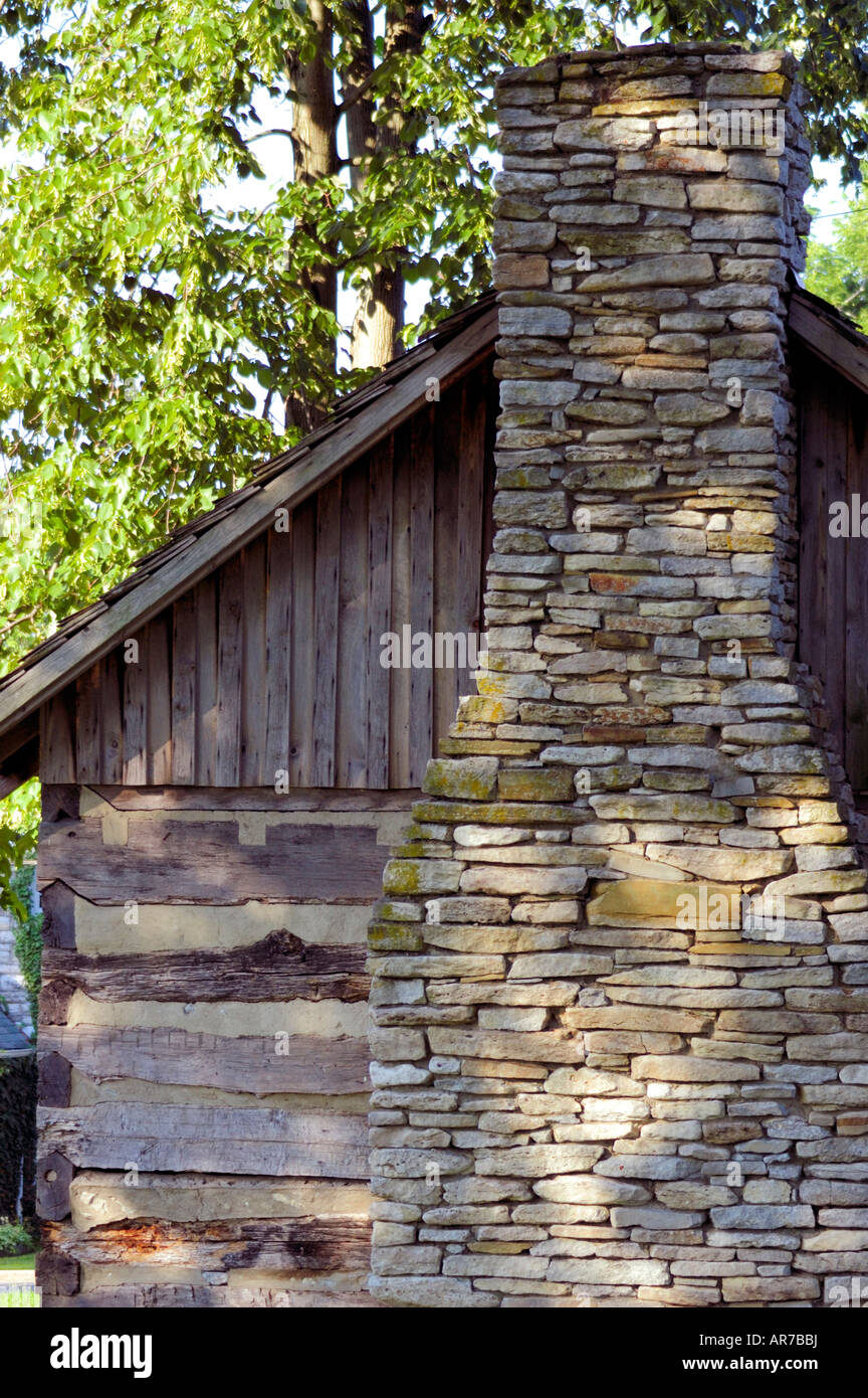 Vintage kentucky pioneer log cabin with a stone chimney stock photo vintage kentucky pioneer log cabin with a stone chimney publicscrutiny Image collections