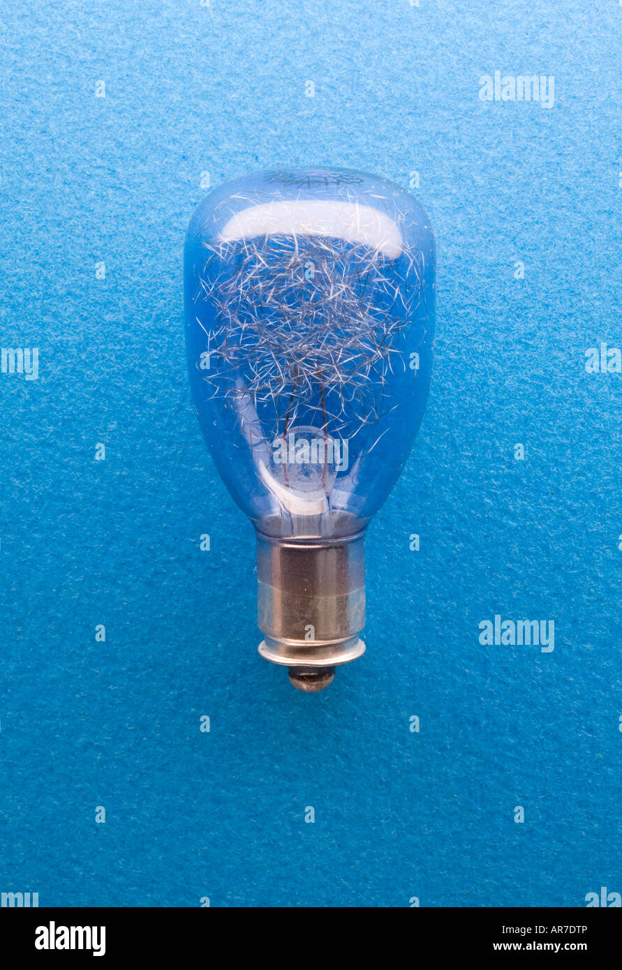 vintage flash bulb before it explodes - Stock Image