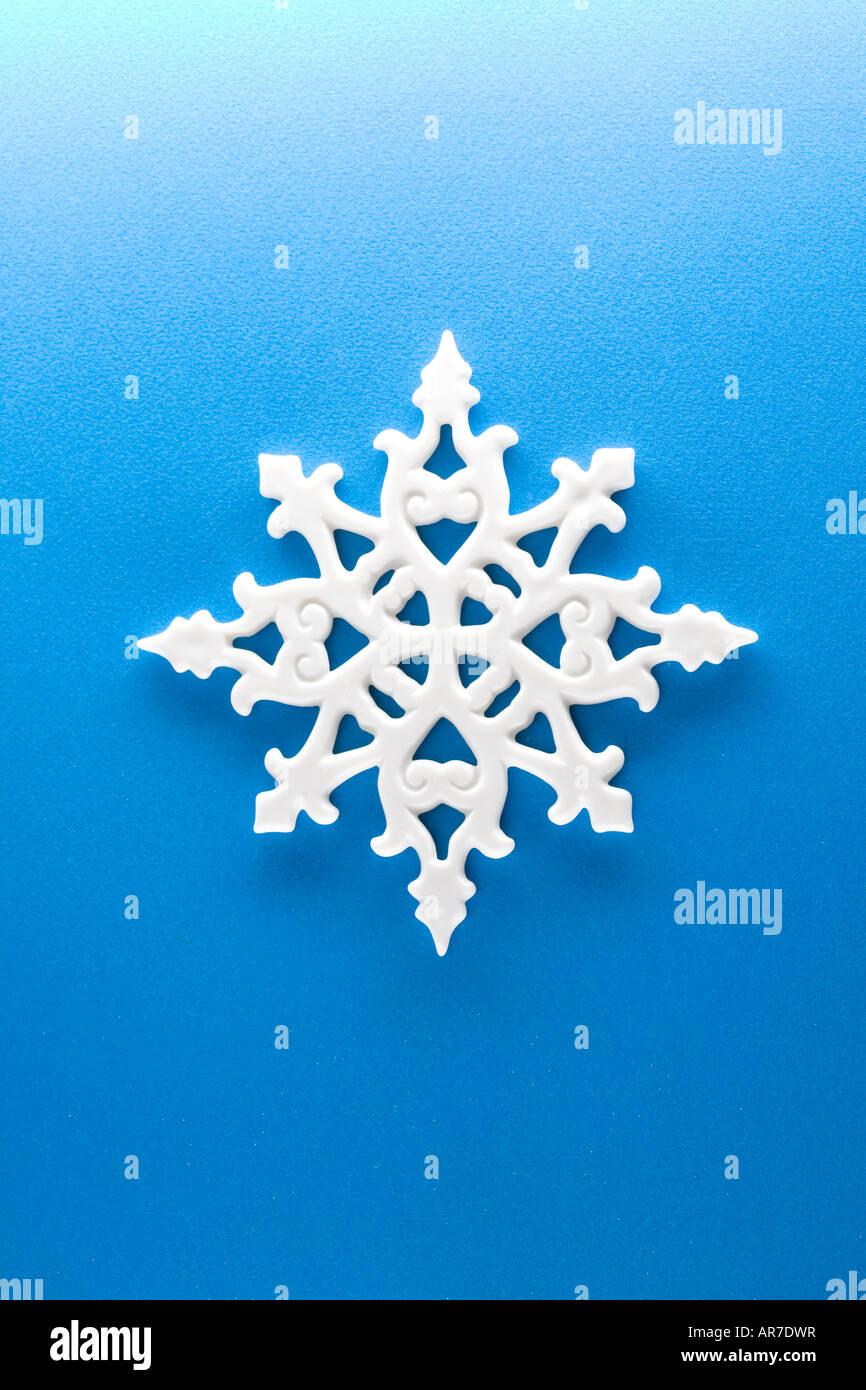 simple snowflake ornament for Christmas - Stock Image