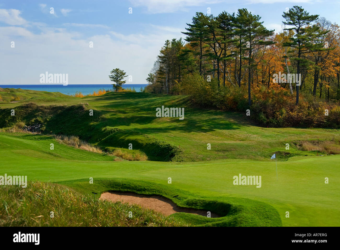 18th Green at Whistling Straits Golf Course Kohler Wisconsin USA ...