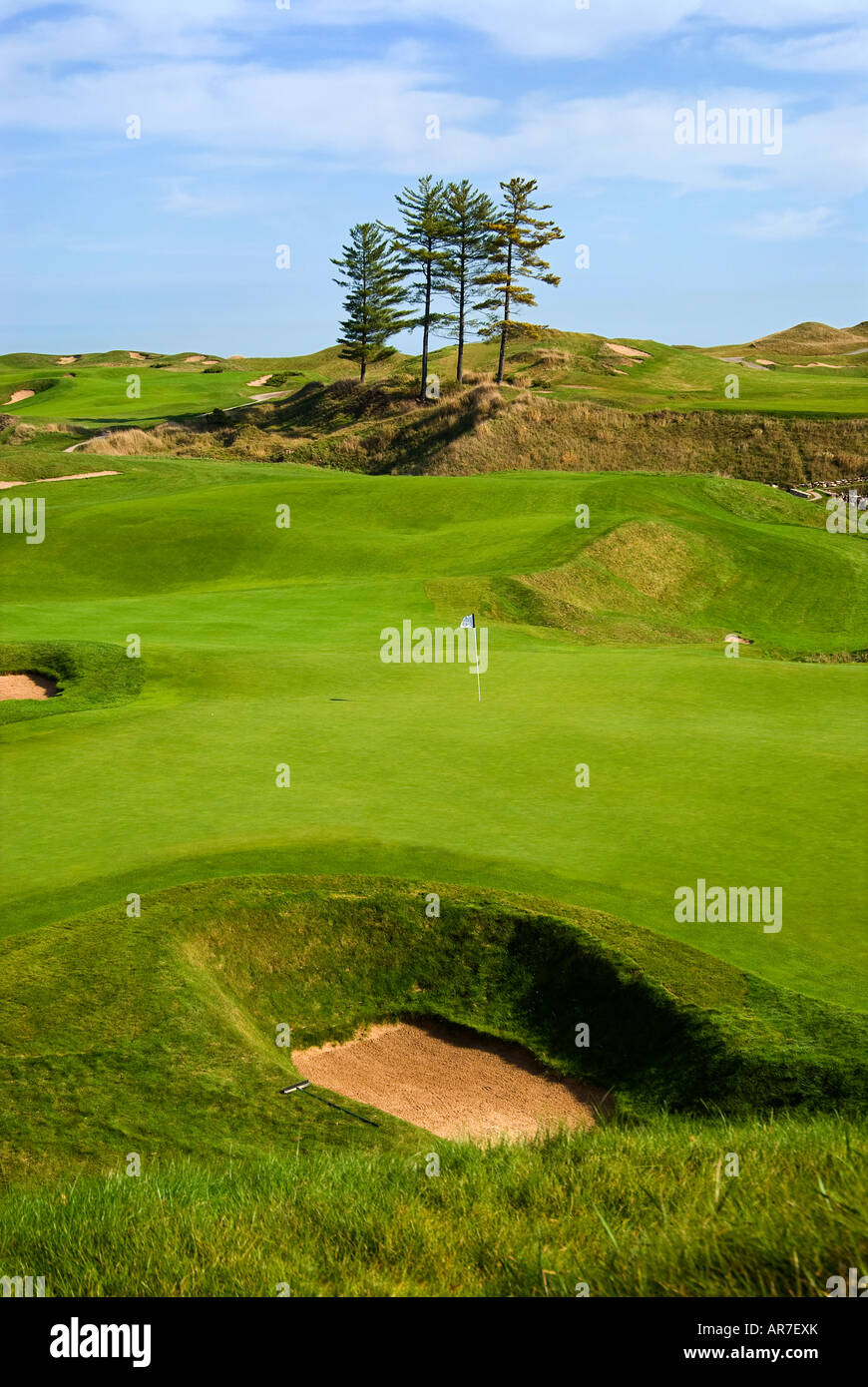 18th hole Whistling Straits Golf Course Kohler Wisconsin USA /18th ...