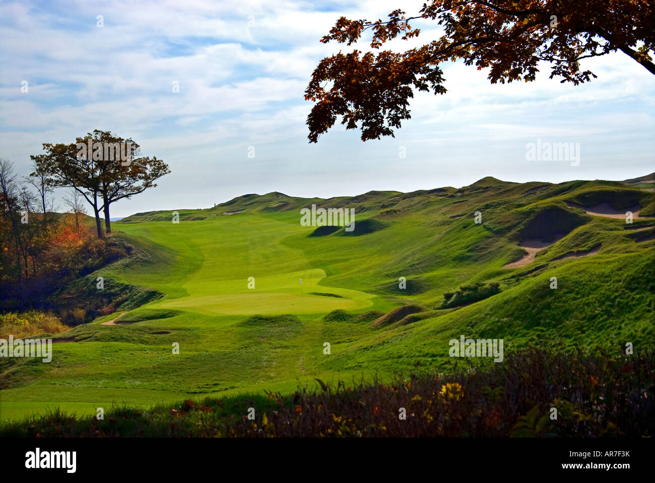 Whistling Straits Golf Course Kohler Wisconsin USA, 9th hole Stock ...
