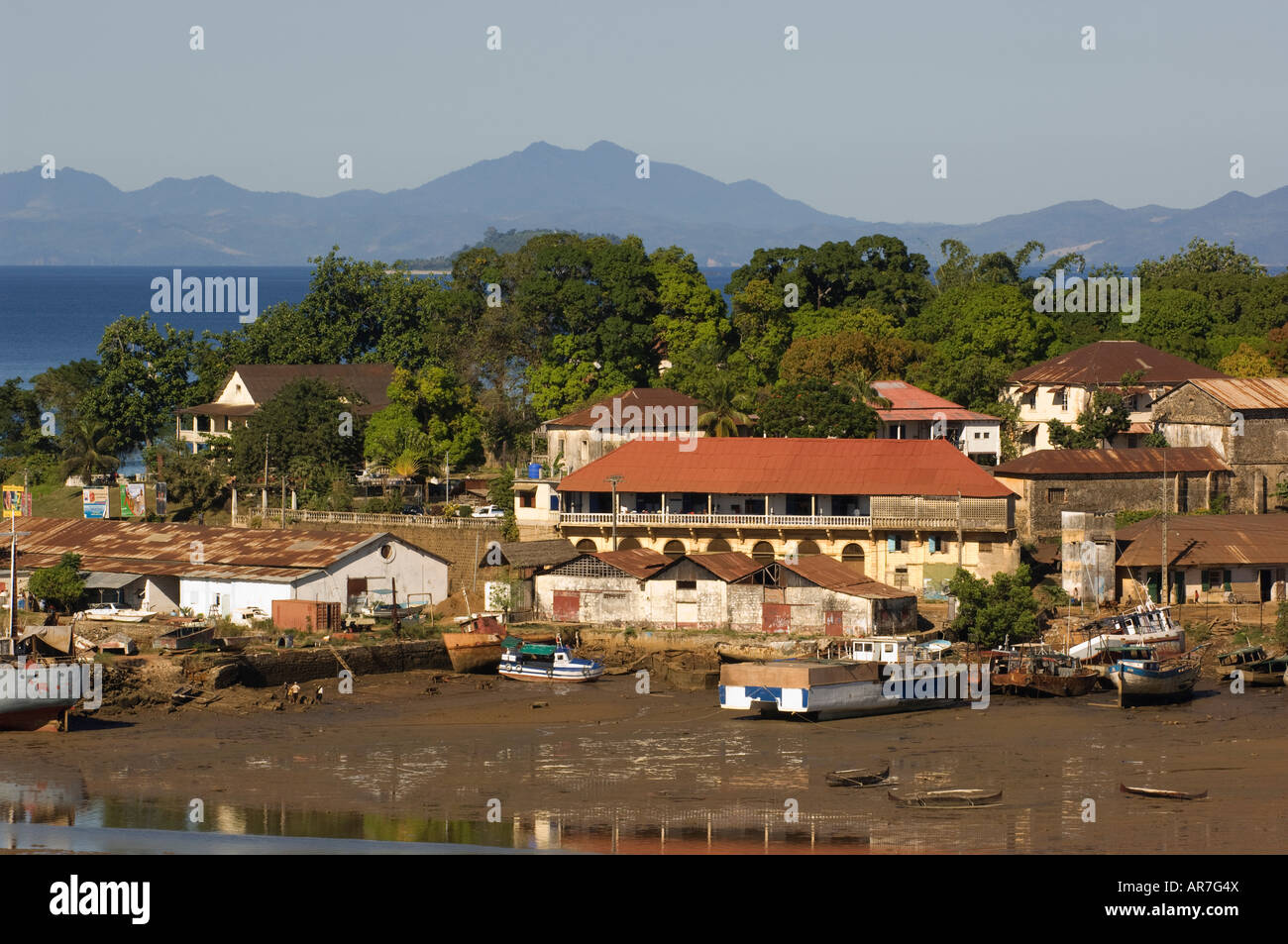 Harbour, Hell-Ville, Nosy Be, Madagascar - Stock Image