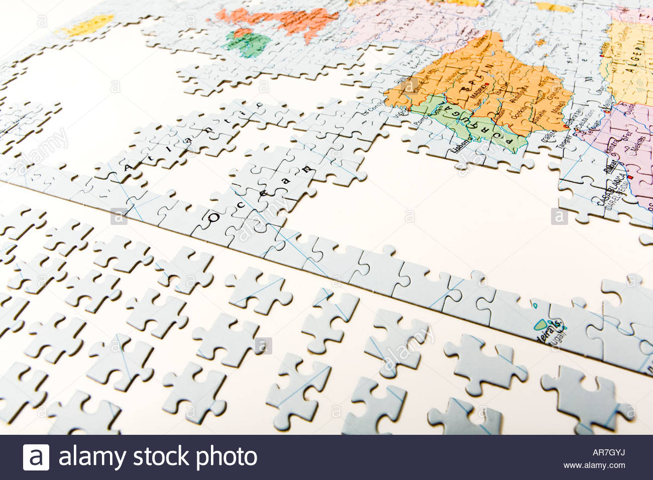 Map puzzle pieces stock photos map puzzle pieces stock images alamy incomplete jigsaw puzzle stock image gumiabroncs Gallery