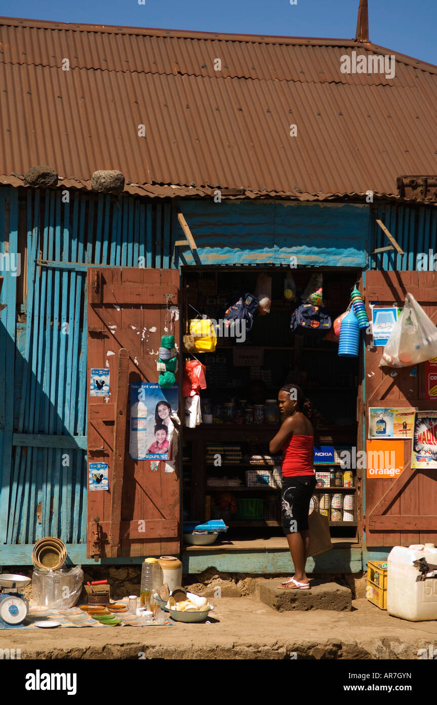 shop, Hell-Ville, Nosy Be, Madagascar - Stock Image