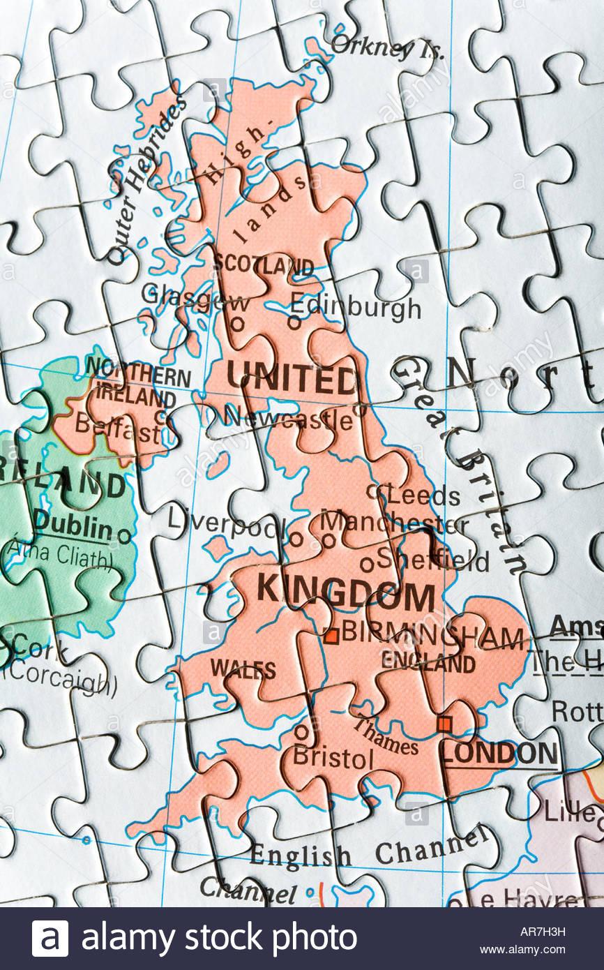 Jigsaw puzzle map of uk stock photo 15964852 alamy jigsaw puzzle map of uk gumiabroncs Images