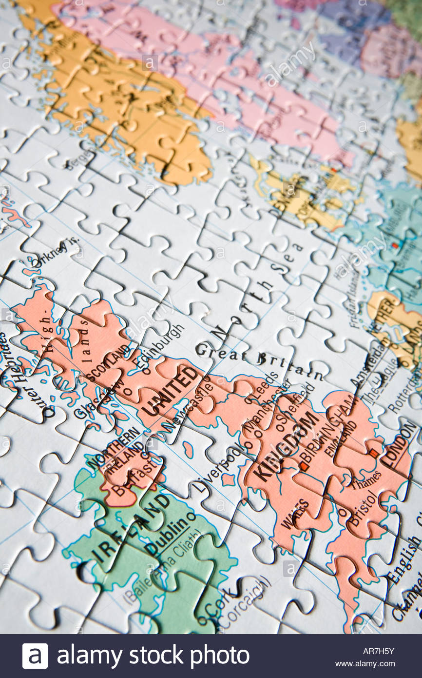 Map europe puzzle stock photos map europe puzzle stock images alamy jigsaw puzzle map of uk nw europe stock image gumiabroncs Image collections