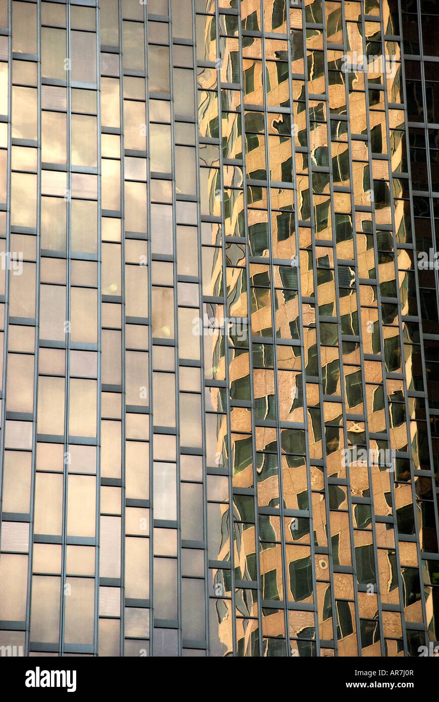 reflections in office block windows. - Stock Image